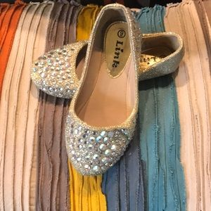 Sparkly Gold Flats Girl's Size 9